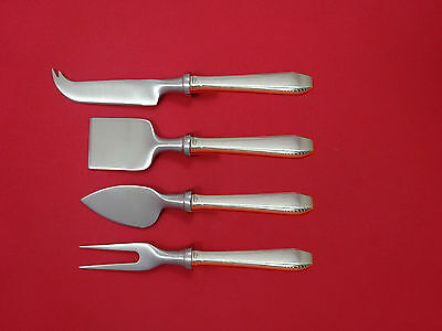 SILVER PLUMES BY TOWLE STERLING SILVER CHEESE SERVER SERVING SET 2PC HHWS CUSTOM