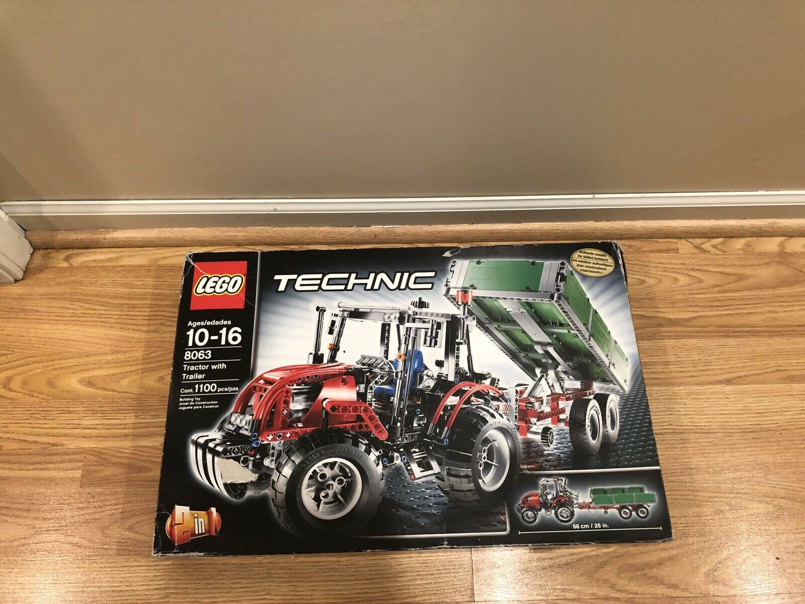 New in Very Good Condition Sealed Box - Lego Technic 8063 Tractor Trailer Set
