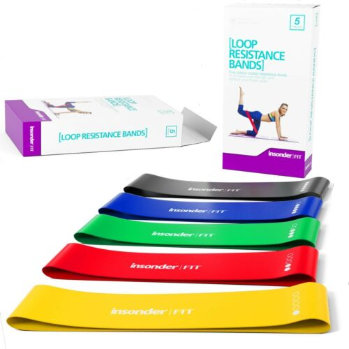 Resistance Bands Set For Glute Bum Leg Muscle Tone Exercises Home Gym Exercise
