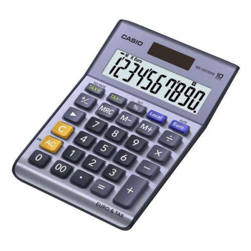 Casio MS-100TERII Rechner Taschenrechner Euro Umrechnung Vorzeichenwechsel