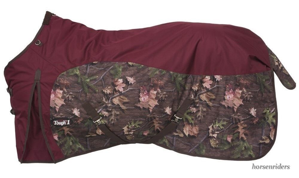 Winter Horse Turnout Blanket-600D-Waterproof-Camo Timber Plum (Sizes 69  to 84 )