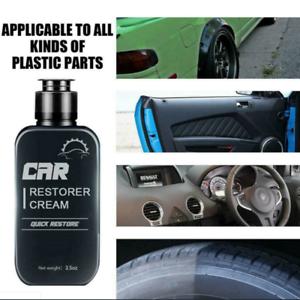 Car Restorer Cream Quick Auto Leather&Plastic Refurbishment Paste W/Sponge US