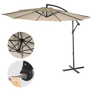 parasol d port semi pro acerra 3m inclinable cr me sans support ebay. Black Bedroom Furniture Sets. Home Design Ideas