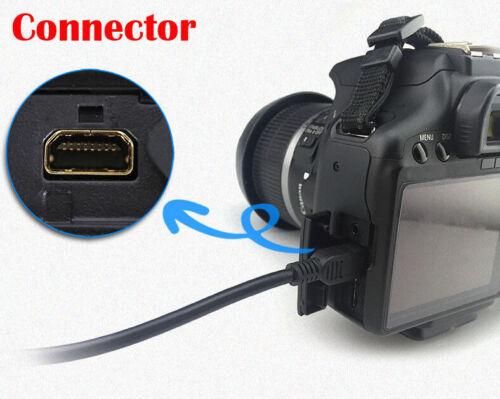 Pwron Cable USB para Panasonic Lumix DMC-FZ5 DMC-G10 DMC-TS30 FX60 FX580 Cámara