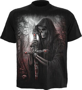 SPIRAL-DIRECT-SOUL-SEARCHER-T-Shirt-Reaper-Skull-Biker-Horror-Goth-Plus-3XL-4XL