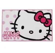 Hello Kitty Rectangular Candy Spots Dots Blanco Rosa Carpet Alfombra Dormitorio Piso Mat