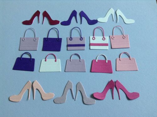 Handbag and shoes die cuts in various choice of colours **FREE POSTAGE**