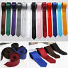 Classic Skinny Slim Tie Solid Color Plain Silk Men's Jacquard Woven Necktie 5cm