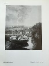 Antique Print Plate of River WENSUM NORFOLK Oil Painting JOHN CROME The Studio