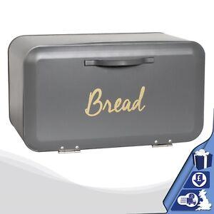 Grey-Bread-Bin-Front-Open-Kitchen-Loaf-Storage-Box-Cheap-Bread-Bin