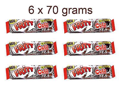 6 x FRITT Cola Flavor German Chewy Candy Stripes with Vitamin C 6 x 70g 2.5oz