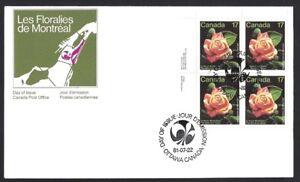 Canada-896-ULpb-MONTREAL-ROSE-Brand-New-1981-Unaddressed-Issue