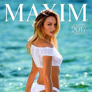 2017-WALL-CALENDAR-MAXIM-SWIMSUIT-MODELS-12-X-12-NEW-SEALED
