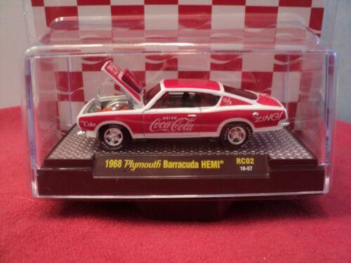"Cola/"" w//display case 1//64 scale NIB 1//9600 M2 1968 Plymouth Barracuda Hemi/""Coca"
