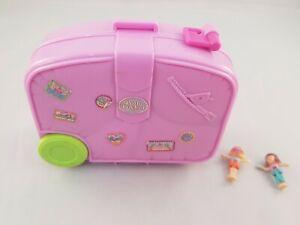 Vintage-Polly-Pocket-1996-Holiday-Fun-Hawaiian-Suitcase-Compact-Case-COMPLETE