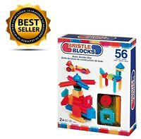 Battat 56-piece Colored Bristle Blocks Basic Building Set Gift For Kids Toddlers