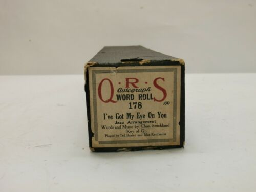 Vintage QRS Player Piano Music Roll 178 I've Got My Eye On You