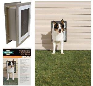 Image is loading Medium-Dog-Door-WALL-MOUNT-Doggie-Door-Pet- & Medium Dog Door WALL MOUNT Doggie Door Pet PetSafe Pet Supply Up To ...