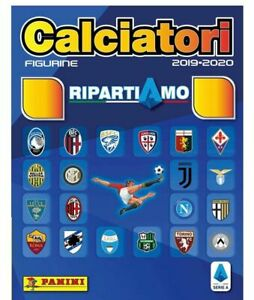RIPARTIAMO-CALCIATORI-PANINI-2019-2020-ALBUM-SET-COMPLETO-20-FIGURINE