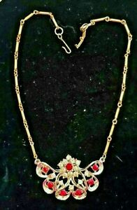 VINTAGE-SIGNED-EARLY-LISNER-NECKLACE-Mint-Condition