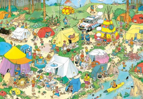 Jan van Haasteren Camping in the Forest Jigsaw Puzzle (2000 pieces)