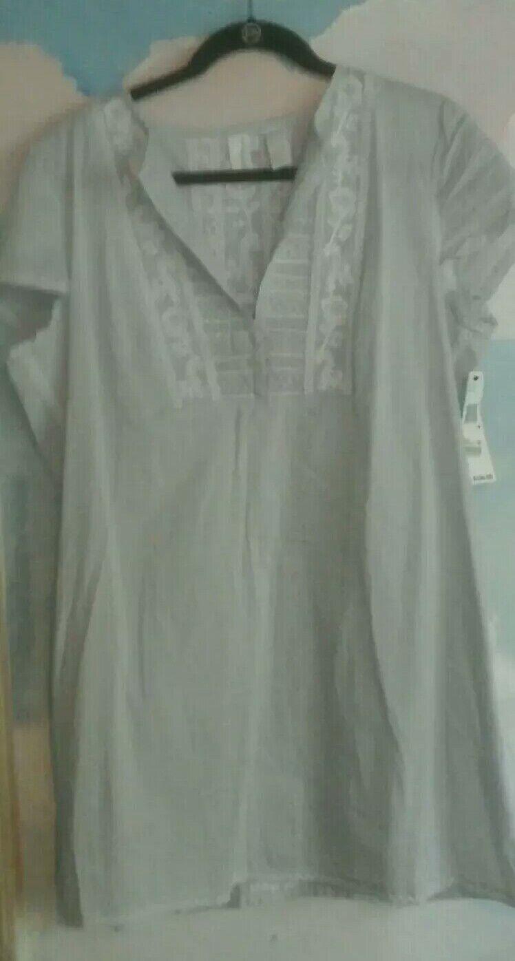 DKNY Pure Mini Dress  Top In 100% Cotton In Pale Blau, 14