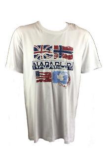 Men-039-s-napapijri-T-Shirt-designer-Logo-T-Shirt-Short-Sleeve-Crew-Neck