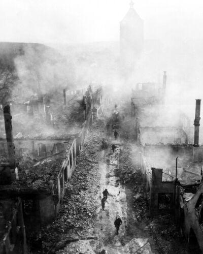 INFANTRY REGIMENT AT WALDENBURG 8X10 PHOTO WWII 1945