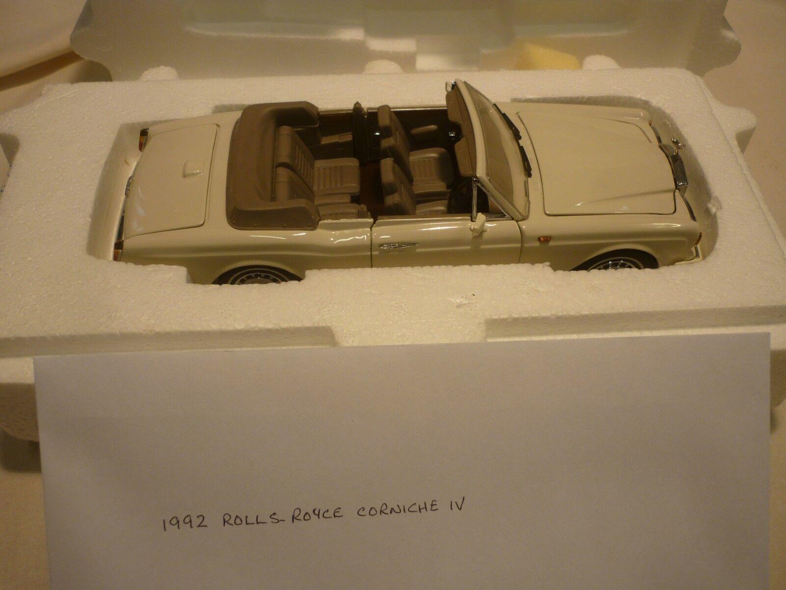 Un Franklin Comme neuf scale model of  a 1992 ROLLS ROYCE Corniche IV. Boxed, papiers  qualité fantastique