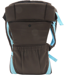 Cotton Infant Baby Adjustable Wrap Sling Front Back Carrier 4 position Max 18kg