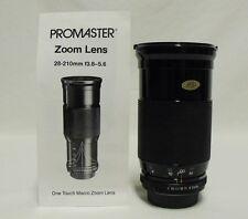 PROMASTER f/3.8-5.6 28-210mm Macro Zoom Lens SLR Camera DSLR Pentax K Micro 4/3
