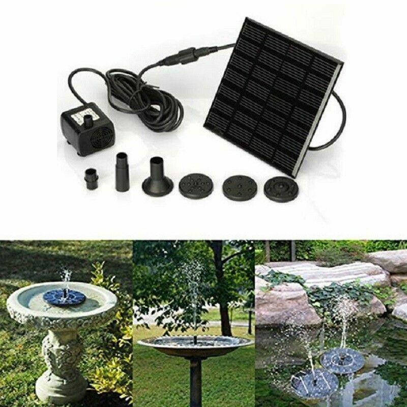 Solar Power Panel Fountain Garden Fish Tank Pond Submersible