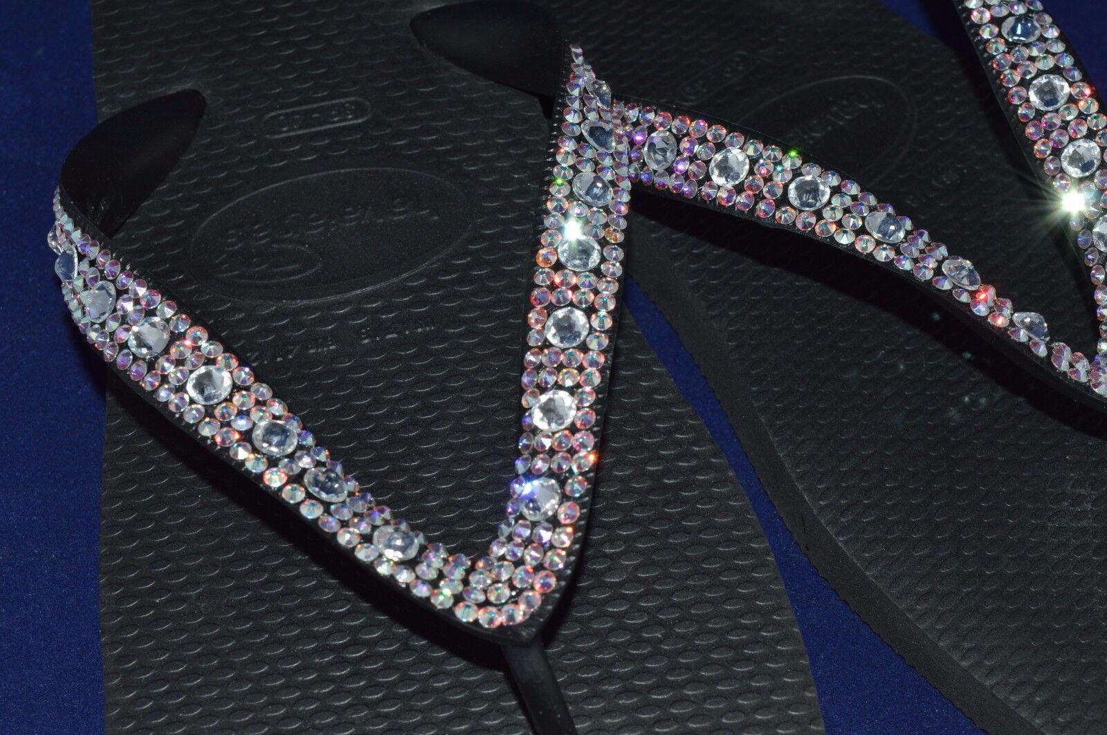 Havaianas Bling Diamond wedding flip flops flops flops made with SWAROVSKI Elements crystal 3c206b
