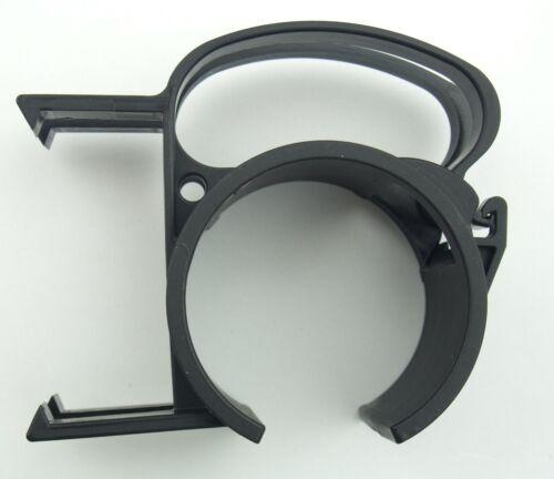 Befestigungs Klammer Schelle 25 SNAP Black Kabel Klemme mit Steckdosenhalterung