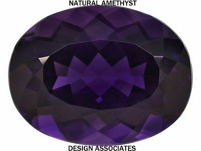 AFRICAN AMETHYST OVAL CUT 12X10 MM ALL NATURAL