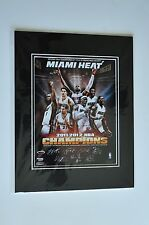 MIAMI HEAT 2012 NBA WORLD CHAMPIONS MOUNTED 11 X 14 IN TEAM PHOTO POSTER