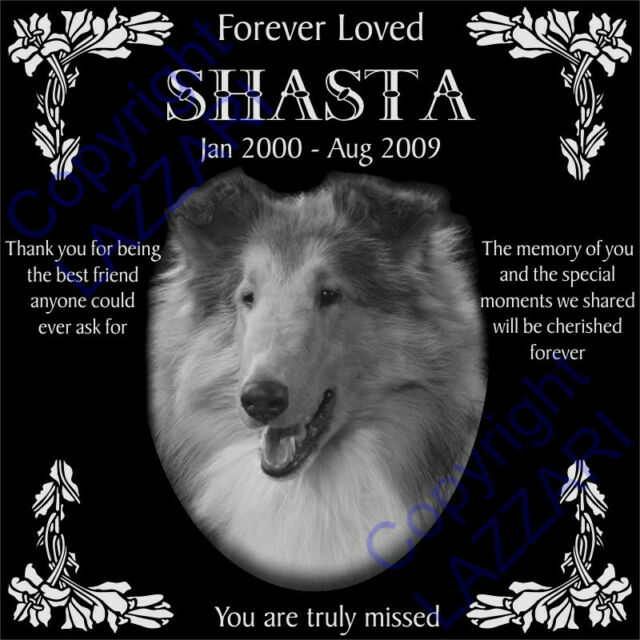 Custom Dog Cat Pet Memorial Engraved 12x12 Granite Grave Marker I W Your Photo