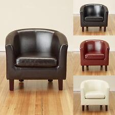 Luxury Bonded Leather Tub Armchair