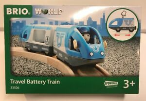 Brio World Wooden Railway Travel Battery Operated Train #33506 , New