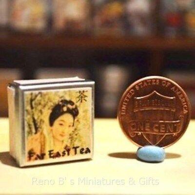 Dollhouse miniatures Beverage 1:12 Chinese Tea Tin NEW