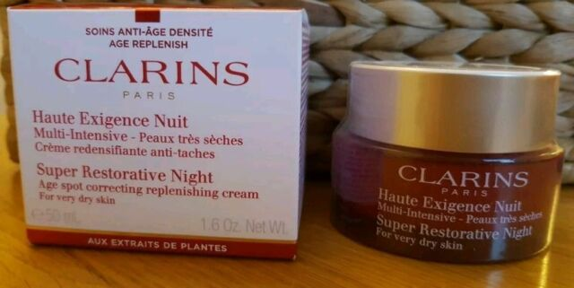 New & Boxed CLARINS Super Restorative Night Cream for very dry skin 50ml