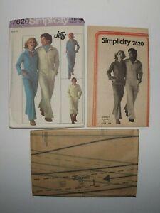 Vtg Simplicity Pattern 7620 Men's Jiffy Jumpsuit Size 42 Vintage 1976 Uncut