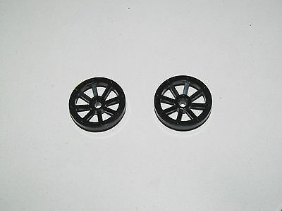 Lego ® Chevalier Lot x2 Roues Charrette Noir 27 mm Black Wheels Spoked 2470
