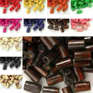 30g Tube Wood Beads Spacer Loose Jewelry Findings 8x5mm EBWBSET3 200pcs Approx