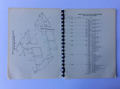 New Holland 330 335 /& 336 Manure Spreaders 1-61 Service Parts Catalog 331
