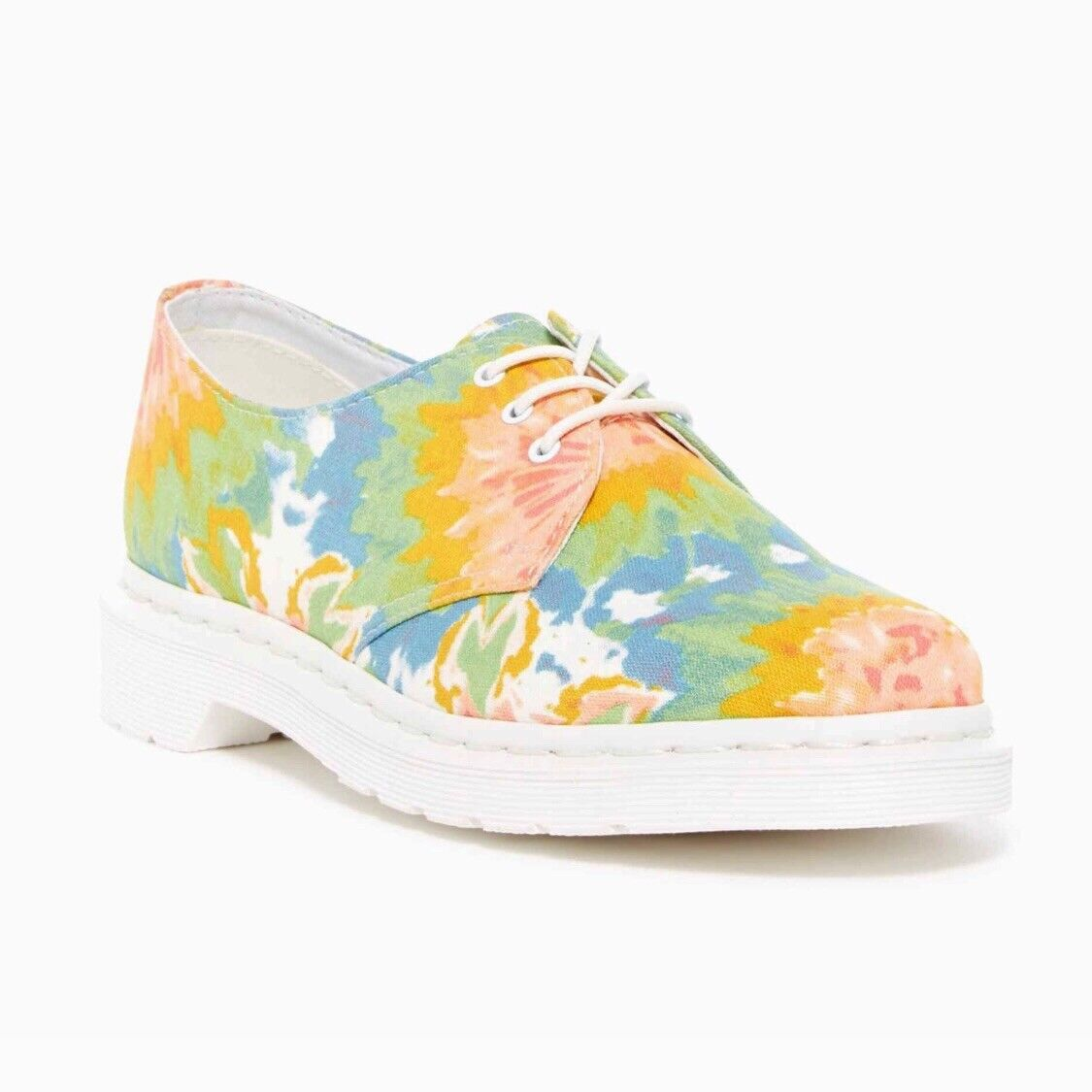 Dr. Martens Lester Tie-Tye Canvas Derby Sneaker Woman shoes Size 9 New NWT