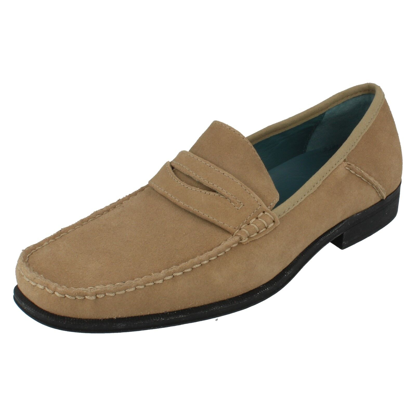 Mens SUSSEX Taupe Suede Leather Slip On Shoes By Sebago