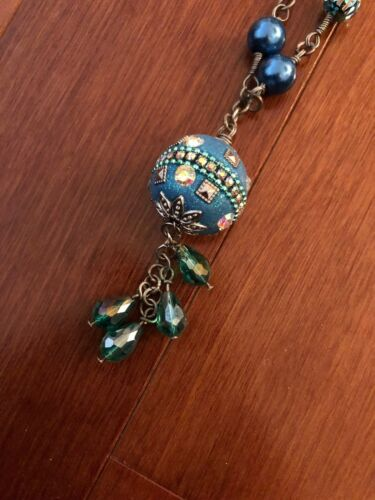 Made with Love by the Seacoast Long Bugle Bead Necklace