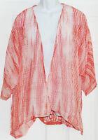 Raviya Cover Up Tunic Blouse Sz S/m Swimwear Coral (k17)