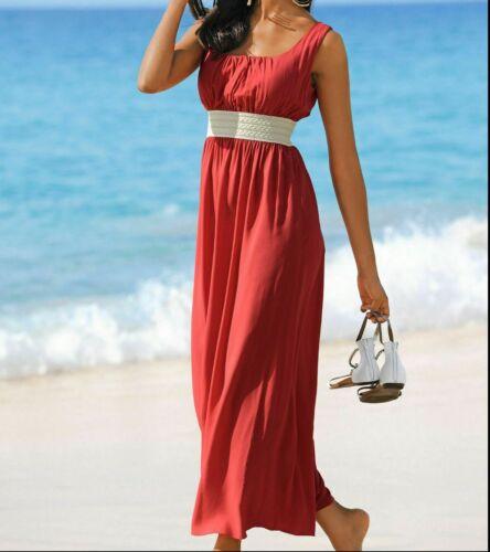 42 NUOVO Abito da spiaggia vestito abito estivo tempo libero abito CORALLO TG